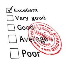 Royalty Free Clipart Image Employee Performance Review With An