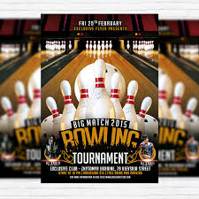 Bowling Event Flyer Bowling Tournament Premium Psd Flyer Template