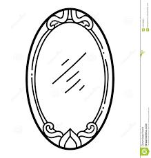 Libro Da Colorare Specchio Illustrazione Vettoriale Illustrazione