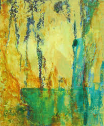 bente hansen contemporary oil and cold wax painting
