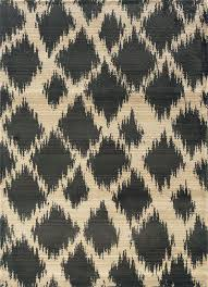 5x8 sphinx diamonds ikat casual ivory 1330y spotted area rug approx 5 3 x7 6
