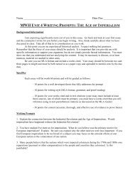 unit writing prompts
