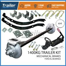 details about diy mechanical single axle trailer kit 1400kg rated caravan boat parts springs