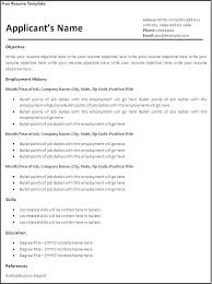 Blank Resume Format Interesting Free Blank Resume Template Online Templates Printable For Word 48