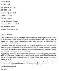 best law student cover letter sle