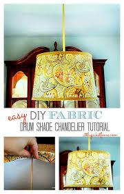 diy fabric drum shade chandelier tutorial atthepicketfence com
