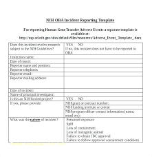 Test Incident Report Template
