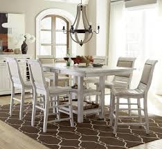 progressive furniture willow dining 7 piece rect counter height table set item number