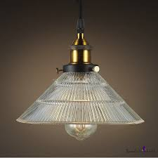 ribbed glass shade industrial small cafe hanging pendant light beautifulhalo com