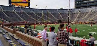 Nebraska Cornhuskers Stadium Seating Chart Michigan Stadium Section 1 Row 2 Seat 12 Michigan