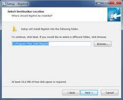Bigshot: Use - Process - Install