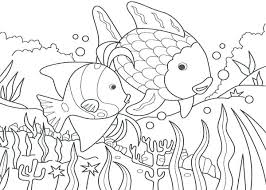 lake coloring pages rainbow fish for kids book swan ballet colouring