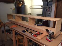 the next step was to build the workbench top and lower shelf top we decided to use medium density fibreboard mdf instead of plywood or particle board as