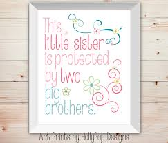 zoom on brothers wall art quotes with nursery wall decor baby girl little sister big brother kids