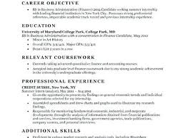 Entry Level Banking Resumes Objective For Entry Level Resume Foodcity Me