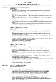 Digital Content Manager Resume Samples Velvet Jobs