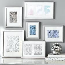 silver modern picture frames. Wall Picture Frame Set Gallery Frames Of 6 Silver Modern Wooden Photo