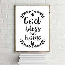 god bless our home printable art wall decor typography on bless our home wall art with god bless this home wall art elitflat