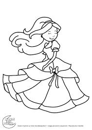 Coloriage Princesse Barbie Imprimer
