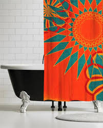Artistic shower curtains Abstract Ubu Republic Pop Art Fabric Shower Curtains Ubu Republic Ubu Republic