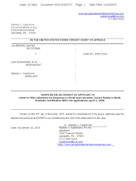 Third Circuit Lambert Appeal Submission Statement As Exhibit Re