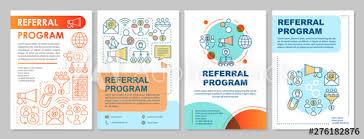 Referral Marketing Program Brochure Template Layout Flyer