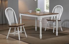 solid parawood pacifica rectangle kitchen table in rustic brown and white finish