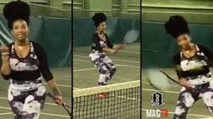 Brandy Late Night Practicing To Play Against Serena! 🎾 - YouTube