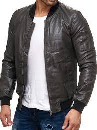lab 1928 men s faux leather jacket gray