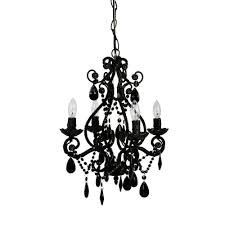 4 light black mini chandelier