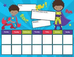 I Can Do It Chart Printable Superhero Reward Chart For Boys Girls Free Printable