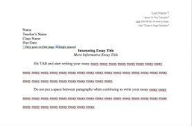 proper essay format com proper essay format 6 mla style resume sample heading what