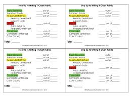 Step Up To Writing T Chart Step Up To Writing T Chart Rubric First Grade Writing