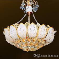 modern crystal chandeliers lights led pendant lamps hotel royal dinning room bedroom study room lotus flower pendant chandelier lightings chandelier light