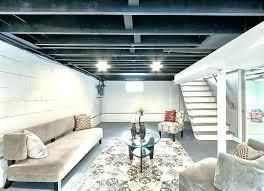 best basement lighting. Unfinished Basement Ceiling Paint Amazing Lighting Fashionable Light Fixtures Concepts For Lights Ceil . Best