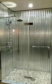 corrugated metal shower stall