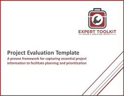 Project Evaluation Template & Guide By Expert Toolkit