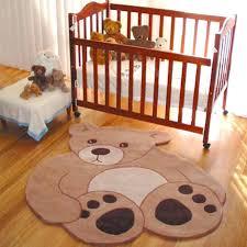 baby nursery floor rugs bedroom cute brown teddy bear rug for animal room super sweet and neutral gender boy fl