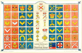British Rank Insignia Chart The Ranks Marks Of The Late Victorian British Army