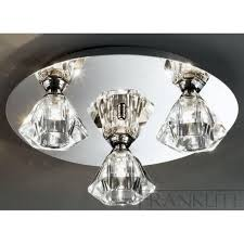 fl2243 3 twista 3 light crystal ceiling light polished chrome