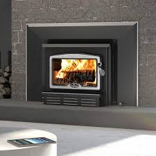 osburn 1100 metallic black epa wood burning fireplace insert