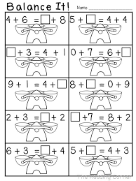 freebie balancing equations sment understanding the equal sign