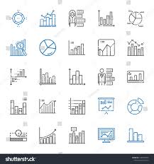 Stats Icons Set Collection Stats Bar Stock Vector Royalty