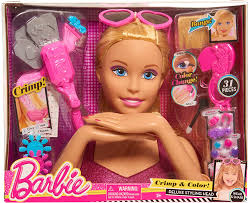 amazon barbie just play 61460 color crimp blonde styling head toys games