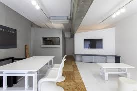recessed lighting in concrete ceilings options for city apartment effective use of blue against and greyish