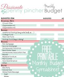 Monthly Budgets Spreadsheets Free Printable Budget Spreadsheet