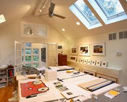 skylight lighting ideas. view in gallery home office with extra large work bench for artist and skylights design sellars lathrop skylight lighting ideas