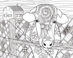 Small Picture FREE Cow Animal Coloring Page for Adults Free Coloring Pages for