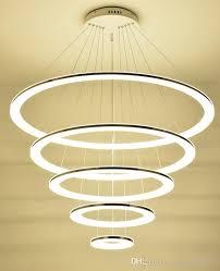 modern chandelier 4 acrylic 100x80x60x40cm lamps ring led chandelier fashion designer hanging circle lamp llfa modern hanging lights large pendant lights