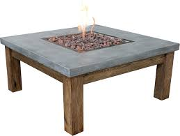 concrete table fire pit